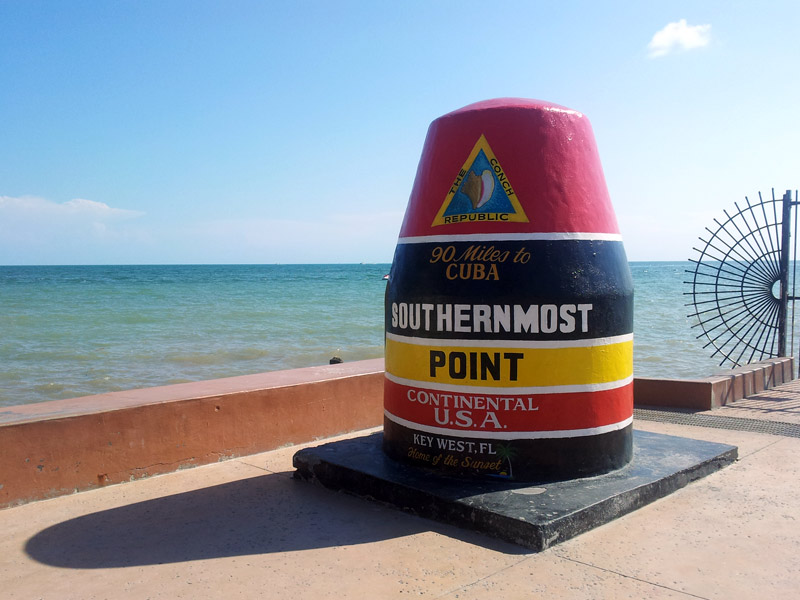 Southernmost Point marker in Key West, a favorite spot for photos