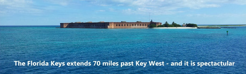 View of the approach to the Dry Tortugas, with Fort Jefferson coming into view