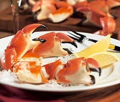 Stone Crab, a local delicacy found only in the waters between South Florida and the Bahamas