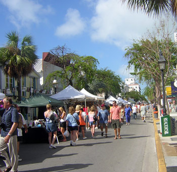 Street fair on Duval Street