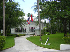 Grounds and building of Truman's Little White House in Key West