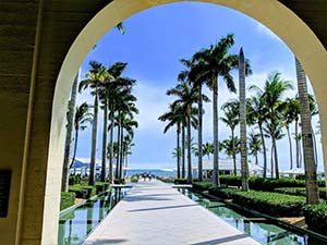 View through an archway at Casa Marina Hotel